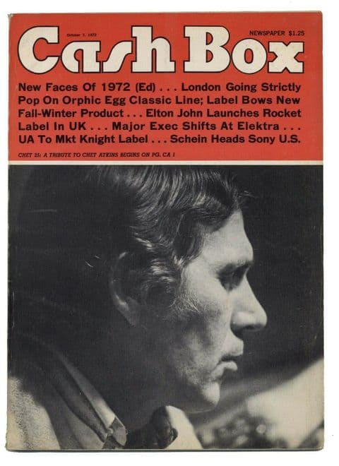 Cash Box music industry magazine December 7 1972 Chet Atkins 36 page special